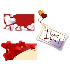 Affectionate Cards vector image