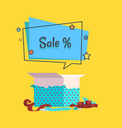 sale banner with speech bubble poster vector image