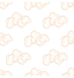 Seamless pattern with bushy pink clouds vector