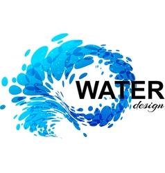 Splash water vector image vector image