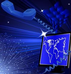 Telecommunication internet background vector