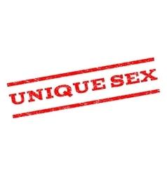 Unique Sex Watermark Stamp vector image