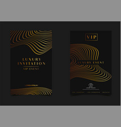 black gold luxury invitation for vip event vector image
