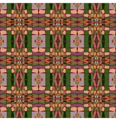 Seamless ethnic print pattern vector image