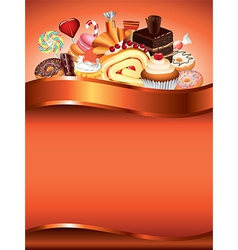 sweets vertical background vector image vector image