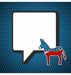 USA Democratic politic message vector image vector image
