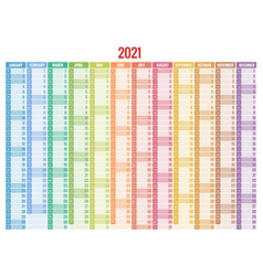 2021 calendar business planner print template vector image