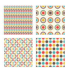abstract geometric retro pattern vintage design vector image