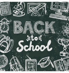 Back to school blackboard poster vector image