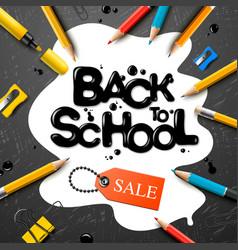 Back to school sale design with pencils vector