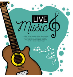 banner for the concert live music vector image