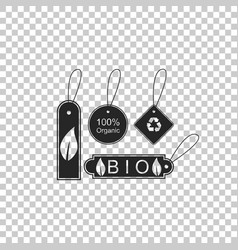 banners labels tags logos for eco healthy foods vector image