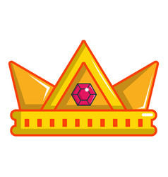Baronet crown icon cartoon style vector