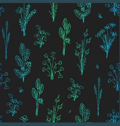 botanica - seamless stylized gradient pattern vector image