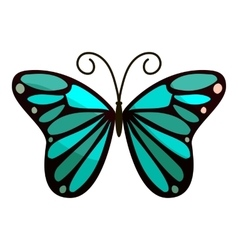 Bright butterfly icon cartoon style vector