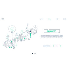 business and finance - line design style isometric vector image