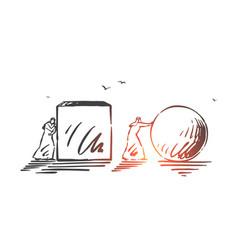 Business competition advantage concept sketch vector