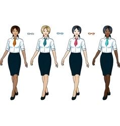 Businesswoman in elegant formal wear for office vector image