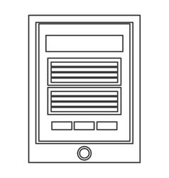 Cellphone with button icon vector