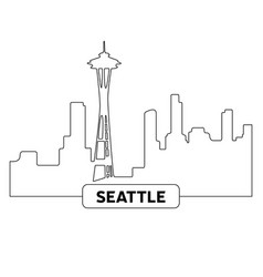 cityscape of seattle vector image