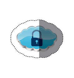 Cloud ladlock security network vector