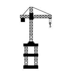 Construction crane isolated icon vector
