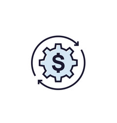 Cost optimization icon on white vector