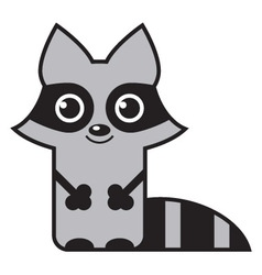 cute raccoon vector image