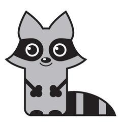 Cute raccoon vector