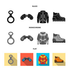 Design of mountaineering and peak icon vector