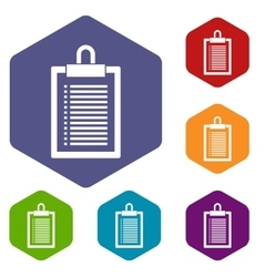 Document plan icons set vector image