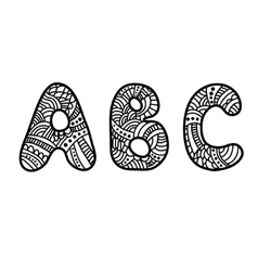 Doodle hand drawn abc letters vector