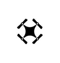 drone quadcopter flat icon vector image