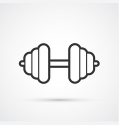 dumbbell line pictograph vector image