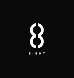 eight 8 logo icon on black background vector image
