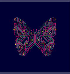 Electronicbutterfly vector