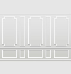 empty white wall moulding panels classic home vector image