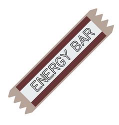 Energy bar flat on white vector