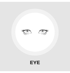 Eyes flat icon vector image