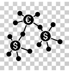 Financial Networks Icon vector