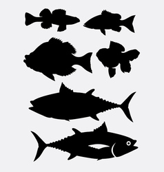 Fish animal silhouette 3 vector