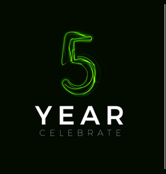 Five years celebrate poster for party 5 years vector