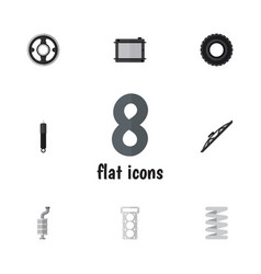 Flat component set of packing crankshaft vector
