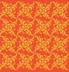 Floral geometric pattern retro oriental flourish vector