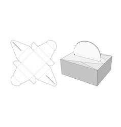 Food box die cut template design vector
