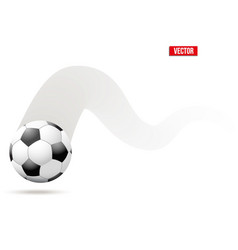 football soccer ball in motion vector image