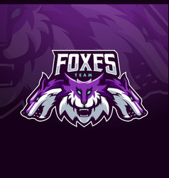foxes mascot vector image