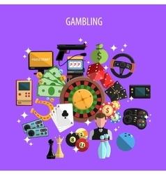 Gambling And Games Concept vector image vector image