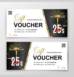 gift voucher template for department stores vector image