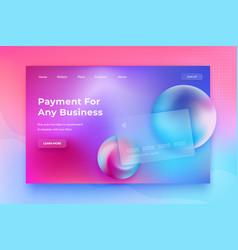 Glassmorphism concept glass effect banking card vector